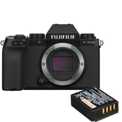 Fujifilm X-S10 Mirrorless Digital Camera with Free NP-W126S Battery Pack (Black)