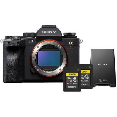 Sony Alpha 1 Mirrorless Digital Camera Body with Free Memory Cards & Card Reader