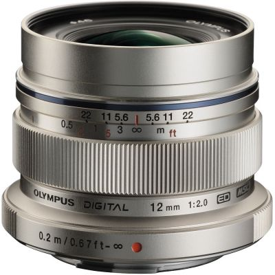 Olympus M.Zuiko Digital ED 12mm f/2 Lens (Silver) (MFT) (Online Only. ETA 3-5 Days)