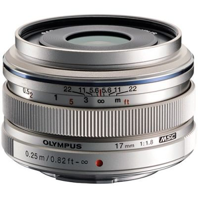 Olympus M.Zuiko Digital 17mm f/1.8 Lens (Silver) (MFT) (Online Only. ETA 3-5 Days)