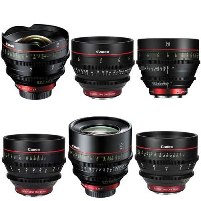 Canon Cinema EF CN-E Prime Lens Kit (14, 24, 35, 50, 85, 135mm)