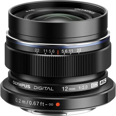 Olympus M.Zuiko Digital ED 12mm f/2 Lens (Black) (MFT) (Online Only. ETA 3-5 Days)
