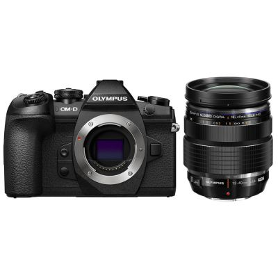 Olympus OM-D E-M1 Mark II Mirrorless Digital Camera with 12-40mm f/2.8 Lens (Online Only. ETA 3-5 Days)