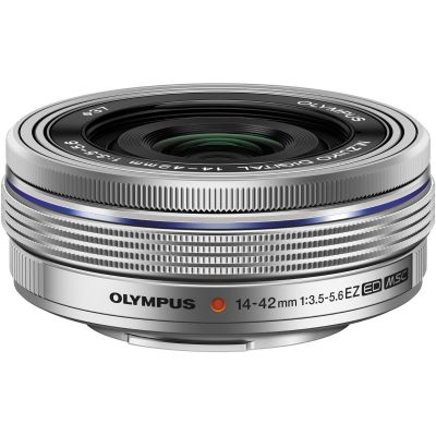 Olympus M.Zuiko Digital ED 14-42mm f/3.5-5.6 EZ Lens (Silver) (MFT) (Online Only. ETA 3-5 Days)
