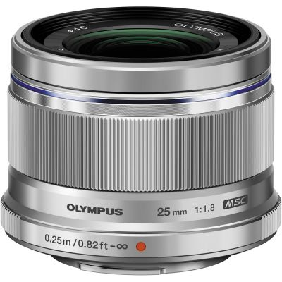 Olympus M.Zuiko Digital 25mm f/1.8 Lens (Silver) (MFT) (Online Only. ETA 3-5 Days)