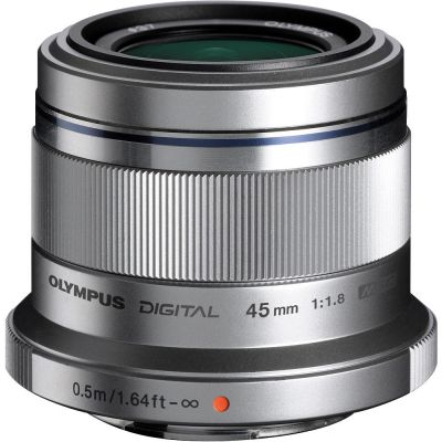 Olympus M.Zuiko Digital 45mm f/1.8 Lens (Silver) (MFT) (Online Only. ETA 3-5 Days)