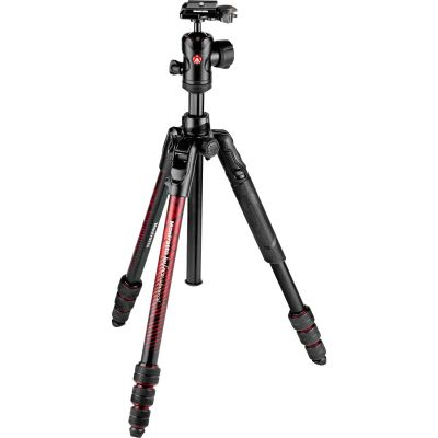 Manfrotto Befree Advanced Travel Aluminum Tripod with 494 Ball Head (Twist Locks, Red)