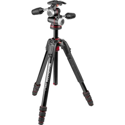 Manfrotto 190go! Aluminium M-Series Tripod with MHXPRO-3W 3-Way Pan/Tilt Head