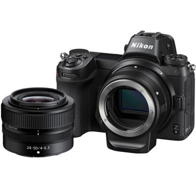 Nikon Z6 Mirrorless Digital Camera with 24-50mm Lens and FTZ Adapter