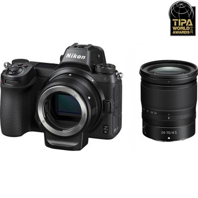 Nikon Z6 Mirrorless Digital Camera with 24-70mm Lens and FTZ Adapter