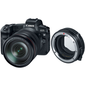Canon EOS R Full Frame Mirrorless Camera with 24-105mm Lens & RF Adaptor