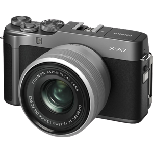 Fujifilm X-A7 Mirrorless Camera with 15-45mm Lens (Dark Silver)