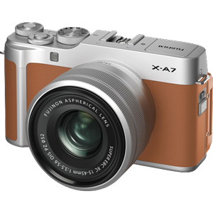 Fujifilm X-A7 Mirrorless Camera with 15-45mm Lens (Camel)