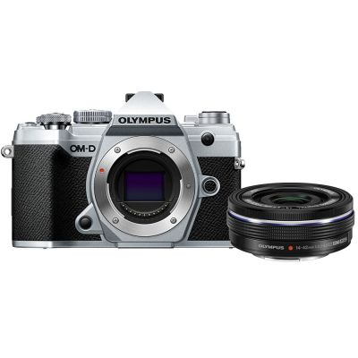 Olympus OM-D E-M5 Mark III Mirrorless Digital Camera with 14-42mm f/3.5-5.6 EZ Lens (Silver) (Online Only. ETA 3-5 Days)