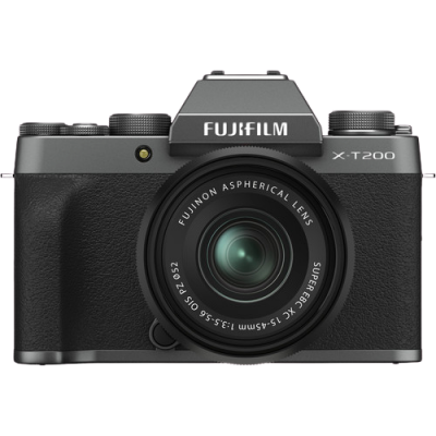 Fujifilm X-T200 Mirrorless Digital Camera with 15-45mm Lens (Dark Silver)