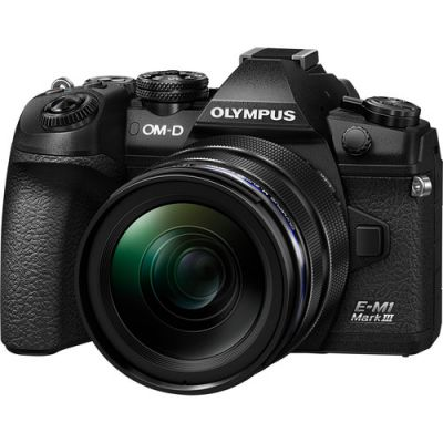 Olympus OM-D E-M1 Mark III Mirrorless Digital Camera with 12-40mm Lens