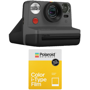 Polaroid Now Instant Film Camera with Free Instant Film (Black)