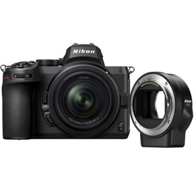 Nikon Z 5 Mirrorless Digital Camera with 24-50mm Lens and FTZ Adapter
