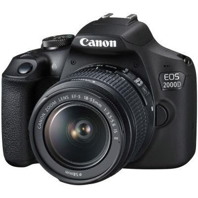 Refurbished Canon EOS 2000D DSLR with EF-S 18-55mm IS II Lens (CANR078)