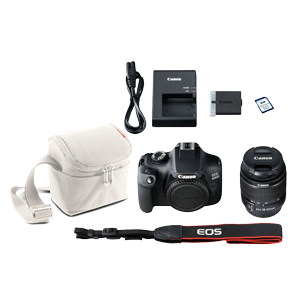Canon EOS 4000D DSLR with EF-S 18-55mm DC Lens, Bag & 16GB Card