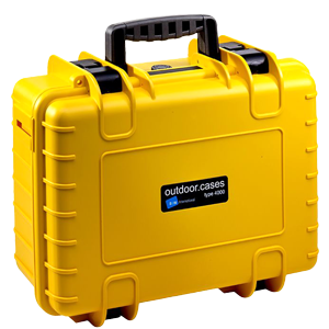 B&W International Type 4000 Outdoor Hard Case with Foam Inserts (Yellow)
