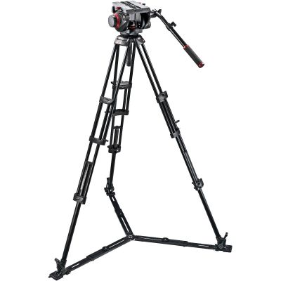 USED Manfrotto 509HD Video Head & 545GB Aluminum Tripod - Rating 7/10 (S31017)