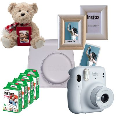 Fujifilm Instax Mini 11 Instant Film Camera Valentines Gift Pack (White)