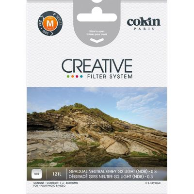 Cokin P121L Graduated Grey G2 Neutral Density Filter (ND2)