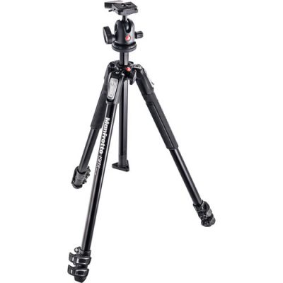 Rental: Manfrotto MK190X3-BH Aluminium 3-Section Tripod with 496RC2 Ball Head