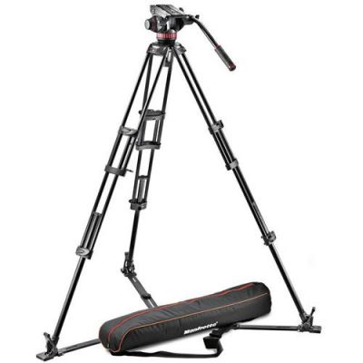 Rental: Manfrotto Pro Video Aluminium Kit MVH502A Head + 546GB Tripod