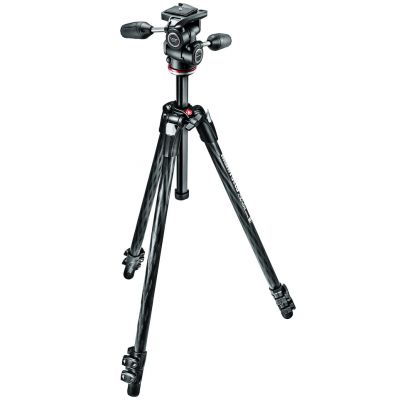 Manfrotto MK290XTC3-3W 3-Section Xtra Carbon Fiber Tripod with 3-Way Head