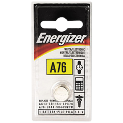 Energizer A76BP1 1.5v Alkaline A76 Battery Card 1