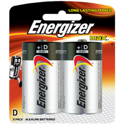 Energizer E95BP2 1.5v MAX Alkaline D-size Battery Card 2