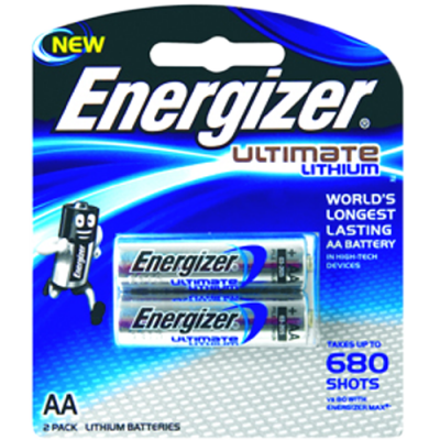 Energizer XL91BP2 1.5v Lithium AA Battery Card 2