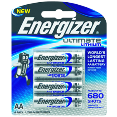 Energizer XL91BP4 1.5v Lithium AA Battery Card 4