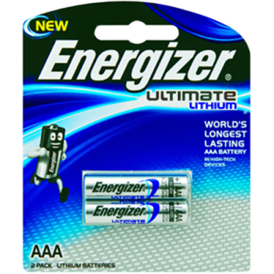 Energizer XL92BP2 1.5v Lithium AAA Battery Card 2