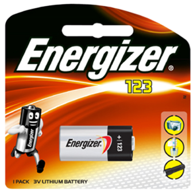 Energizer CR123 3v Photo Lithium Battery Card 1
