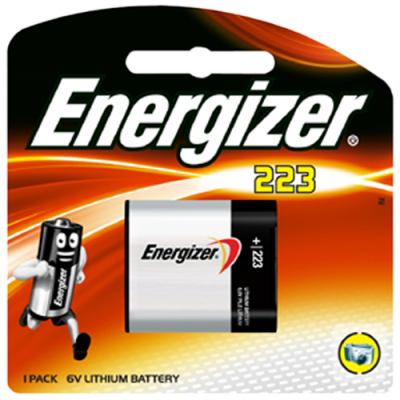 Energizer 223 6v Photo Lithium Battery Card 1
