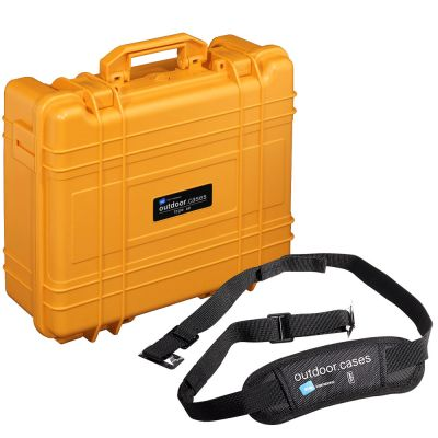 B&W International Type 61 Outdoor Hard Case with Foam Insert with Free Shoulder Strap (Valued at R300) (Orange)