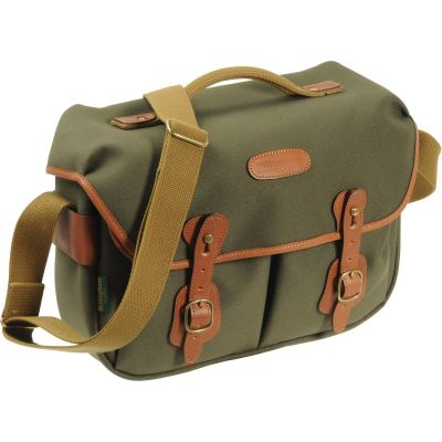 USED Billingham Hadley Pro Shoulder Bag (Sage FibreNyte & Tan Leather) - Rating 9/10 (S31104)