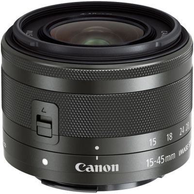Canon EF-M 15-45mm f/3.5-6.3 IS STM Lens (Black)
