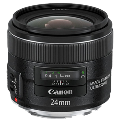 USED Canon EF 24mm f/2.8 IS USM Lens - Rating 7/10 (S31317)