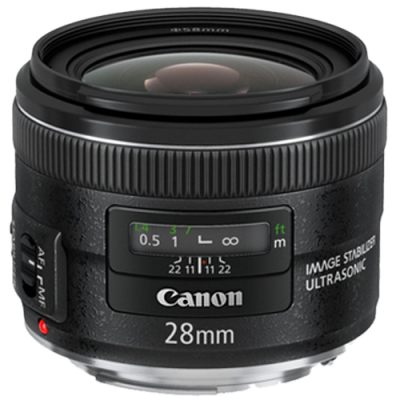 USED Canon EF 28mm f/2.8 IS USM Lens - Rating 7/10 (S31387)