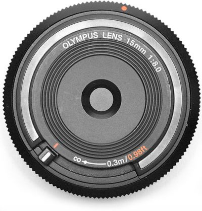 Olympus Body Cap 15mm f/8 Lens (Black) (MFT) (Online Only. ETA 3-5 Days)