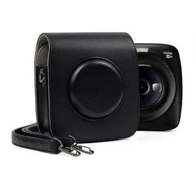 FUJIFILM INSTAX SQUARE SQ20 Hybrid Instant Camera with 16GB MSD Card and Case (Black)