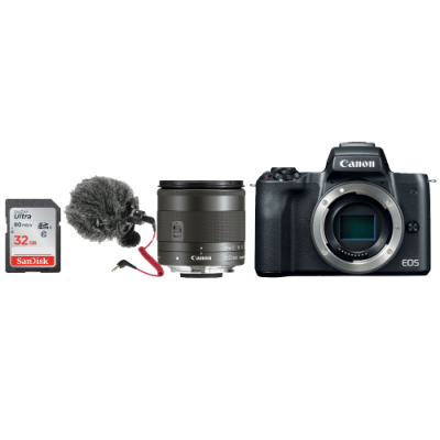 Canon EOS M50 Mirrorless Camera Vlogging Kit