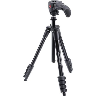 Manfrotto Compact Action Tripod (MKCOMPACTACN-BK)