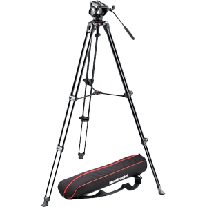 Manfrotto MVH500A Head + MVT502AM Legs + Padded Bag Video Tripod Kit