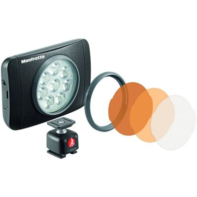 Manfrotto MLUMIEMU-BK Lumimuse 8 (Muse) LED Light with Accessories
