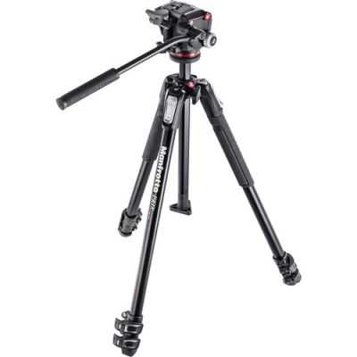Manfrotto MK190X3-2W Aluminium 3-Section Tripod with 2-Way head